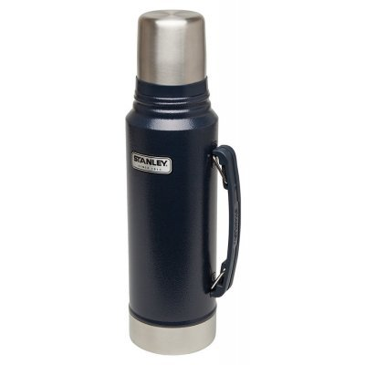 Термос Stanley Classic Vacuum 1л темно-синий/серебристый (10-01254-042)Термосы Stanley<br>Термос Stanley Classic Vacuum (10-01254-042) 1л. темно-синий/серебристый<br>