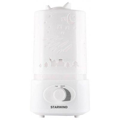 Увлажнитель и очиститель воздуха Starwind SHC2211 белый (SHC2211)Увлажнитель и очиститель воздуха StarWind <br>Увлажнитель воздуха Starwind SHC2211 17Вт (ультразвуковой) белый<br>