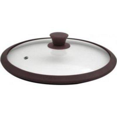 Крышка для кастрюль и сковородок TimA 4826 BR 26см (4826 BR (коричн))Крышки для посуды TimA <br>4826 BR коричневый Крышка стекл. с/силиконовым ободком,26см TimA<br>