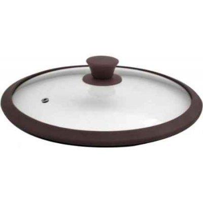 Крышка для кастрюль и сковородок TimA 4828 BR 28см (4828 BR (коричн))Крышки для посуды TimA <br>4828 BR коричневый Крышка стекл. с/силиконовым ободком,28см TimA<br>