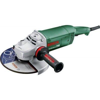 Шлифовальная машина Bosch PWS 2000-230 JE (06033C6001)Шлифовальные машины Bosch<br>Углошлифовальная машина Bosch PWS 2000-230 JE 2000Вт 6500об/мин рез.шпин.:M14 d=230мм<br>