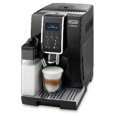 Кофемашина Delonghi ECAM 350.55.B (ECAM 350.55.B)Кофемашины Delonghi<br>Мощность: 1450 Вт, давление помпы: 15 бар, объем резервуара для воды: 1.8 л, отсек для зерен: 300 г, цвет: черный, вес: 9.5 кг (ECAM 350.55.B)<br>
