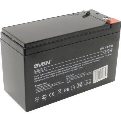 Аккумуляторная батарея для ИБП SVEN SV 12V7.2Ah (SV-012335)Аккумуляторные батареи для ИБП SVEN<br>Аккумулятор SVEN SV 12V7.2Ah<br>