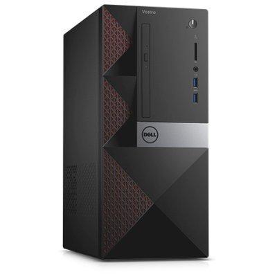 Настольный ПК Dell Vostro 3650 (3650-0298) (3650-0298)Настольные ПК Dell<br>ПК Dell Vostro 3650 MT i3 6100 (3.7)/4Gb/500Gb 7.2k/R 705/DVDRW/CR/Linux/GbitEth/клавиатура/мышь/черный<br>