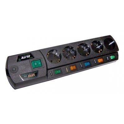 Сетевой фильтр Most EHV 5м (EHV 5M ЧЕРН)Сетевые фильтры Most<br>Сетевой фильтр Most EHV 5м (5 розеток) черный (коробка)<br>