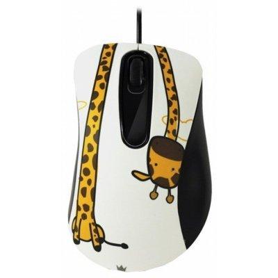 Мышь Crown CMM-30 CMM-30 Giraffe (CMM-30 (giraf))Мыши Crown<br>проводная мышь интерфейс USB для настольного компьютера светодиодная, 3 клавиши разрешение сенсора мыши 1000 dpi<br>