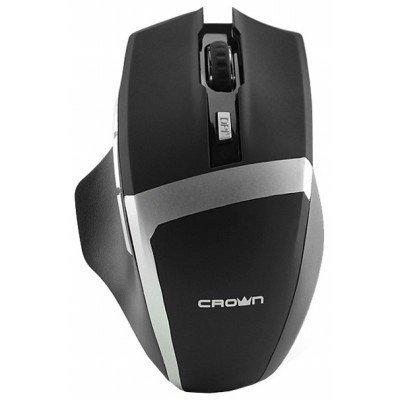 Мышь Crown CMXG-801 черный (CMXG-801 Black)Мыши Crown<br>беспроводная мышь интерфейс USB для настольного компьютера светодиодная, 7 клавиш разрешение сенсора мыши 1600 dpi<br>
