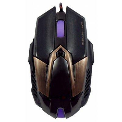 Мышь Crown CMXG-606 черный/коричневый (CMXG-606)Мыши Crown<br>проводная мышь интерфейс USB для настольного компьютера светодиодная, 6 клавиш разрешение сенсора мыши 2000 dpi<br>