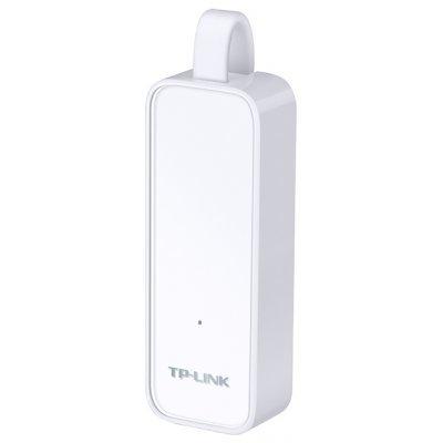 Сетевая карта внешняя TP-link UE300 (UE300)Сетевые карты внешние TP-link<br>Ethernet-адаптер, интерфейс USB 3.0 скорость 10/100/1000 Мбит/с 1 разъем RJ-45<br>
