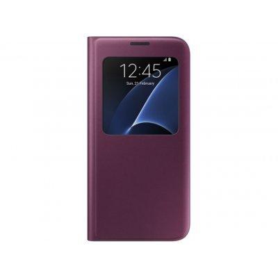 Чехол для смартфона Samsung для Galaxy S7 edge S View Cover бордовый (EF-CG935PXEGRU) (EF-CG935PXEGRU)Чехлы для смартфонов Samsung<br>Чехол (флип-кейс) Samsung для Samsung Galaxy S7 edge S View Cover бордовый (EF-CG935PXEGRU)<br>