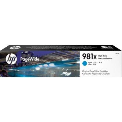 Картридж для струйных аппаратов HP L0R09A 981X Cyan (L0R09A)Картриджи для струйных аппаратов HP<br>HP 981X Cyan Original PageWide Crtg<br>