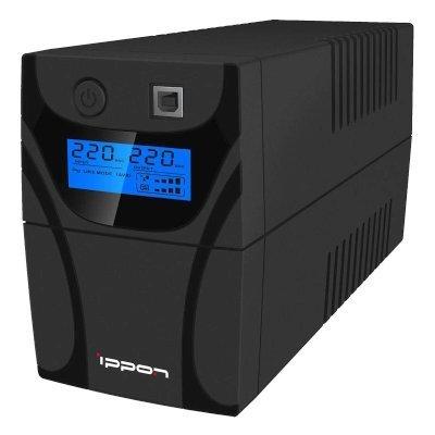 Источник бесперебойного питания Ippon Back Power Pro LCD 400 (353897)Источники бесперебойного питания Ippon<br>ИБП Ippon Back Power Pro LCD 400 400VA/240W USB (3 x IEC)<br>
