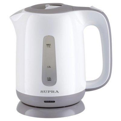 Электрический чайник Supra KES-1724 белый/серый (KES-1724 белый/серый) электрический чайник supra kes 2008 kes 2008