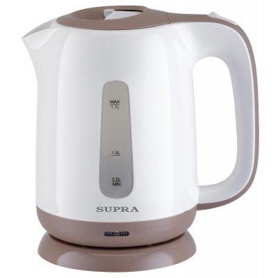 Электрический чайник Supra KES-1724 белый/бежевый (KES-1724 белый/бежевый)Электрические чайники Supra<br>Чайник электрический Supra KES-1724 1.7л. 2200Вт белый/бежевый (корпус: пластик)<br>