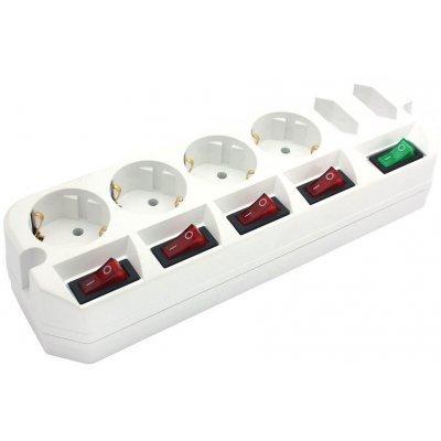 Сетевой фильтр Most A10 1.6м белый (A10-BOX-Б 1,6)Сетевые фильтры Most<br>Сетевой удлинитель Most A10-Box 1.6м (6 розеток) белый (коробка)<br>