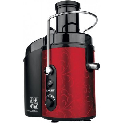 Соковыжималка Scarlett SC-JE50S26 красный/черный (SC-JE50S26) центробежная соковыжималка scarlett sc je50s13