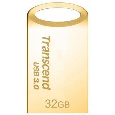 USB накопитель Transcend 32GB JetFlash 710S (TS32GJF710G)USB накопители Transcend<br>флэш-накопитель 32 Гб интерфейс USB 3.0 скорость чтения/записи: 90/20 Мб/с водонепроницаемый корпус материал корпуса: металл<br>