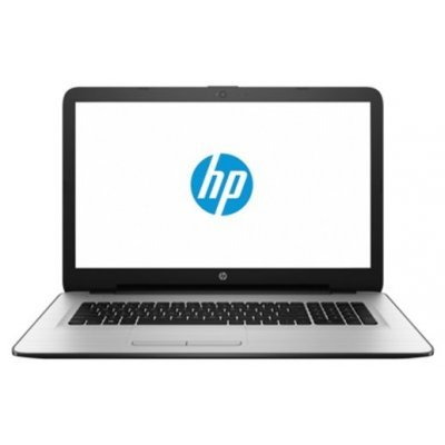 Ноутбук HP 17-y020ur (X7G77EA) (X7G77EA)Ноутбуки HP<br>Ноутбук HP17 17-y020ur 17.3 1600x900, AMD E2-7110 1.8GHz, 4Gb, SSD 128Gb (M.2),, DVD-RW, WiFi, BT, Cam, Win10, эксклюзив, серебристо-белый<br>