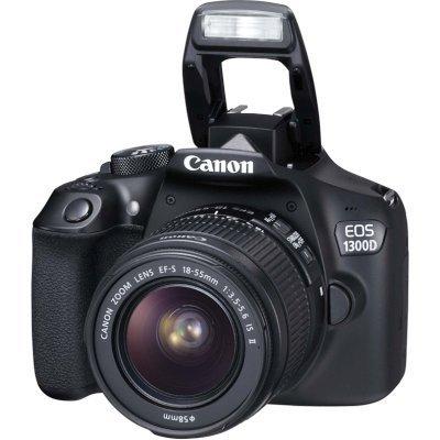Цифровая фотокамера Canon EOS 1300D Kit Black 18-55 IS II (1160C005)Цифровые фотокамеры Canon<br>Фотоаппарат Canon EOS 1300D Kit Black 18-55 IS II &amp;lt;зеркальный, 18.0 Mp, SD,SDHC, SDXC,USB, HDMI&amp;gt;<br>