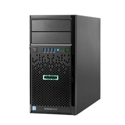 Сервер HP ProLiant ML30 Gen9 (P9J10A) (P9J10A)Серверы HP<br>ML30 Gen9, 1x G4400 2C 3.3GHz, 1x8Gb-U, B140i/ZM (RAID 1+0/5/5+0) noHDD (4 LFF 3.5   NHP) 1x460W (up2), 2x1Gb/s,noDVD,iLO4.2, Tower-4U, 3-1-1<br>