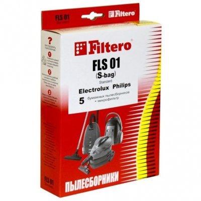 Пылесборник для пылесоса Filtero FLS 01 (FLS 01 (5+Ф) (S-BAG) STANDARD)Пылесборники для пылесосов Filtero<br>Пылесборники Filtero FLS 01 (S-bag) Standard двухслойные (5пылесбор.) (1фильт.)<br>