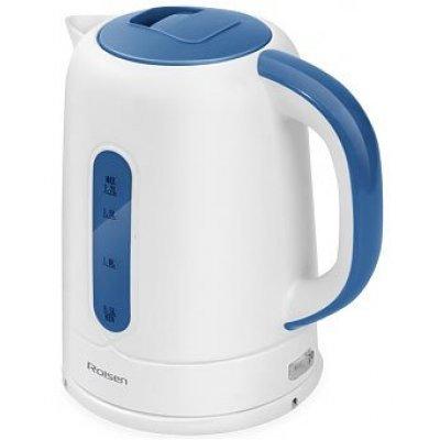 Электрический чайник Rolsen RK-2723P белый/синий (RK-2723P)Электрические чайники Rolsen<br>Чайник электрический Rolsen RK-2723P 1.7л. 1850Вт белый/синий<br>
