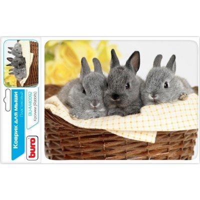 Коврик для мыши Buro BU-M40092 рисунок/кролики (BU-M40092)