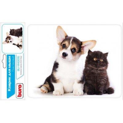 Коврик для мыши Buro BU-M40095 рисунок/котенок и щенок (BU-M40095)