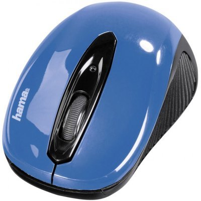 Мышь Hama AM-7300 sky-blue Blue USB (86566)Мыши Hama<br>Мышь Hama АМ-7300 голубой оптическая (1000dpi) беспроводная USB для ноутбука (2but)<br>
