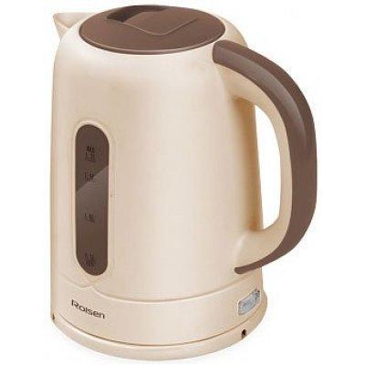 Электрический чайник Rolsen RK-2723P бежевый/коричневый (RK-2723P (beige/brown))Электрические чайники Rolsen<br>Чайник электрический Rolsen RK-2723P 1.7л. 2200Вт бежевый/коричневый (корпус: пластик)<br>