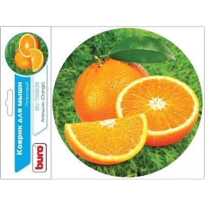 Коврик для мыши Buro BU-T60039 рисунок/апельсин (BU-T60039)Коврики для мыши Buro<br>Коврик для мыши Buro BU-T60039 рисунок/апельсин<br>