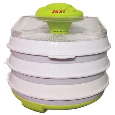 Сушилка для овощей и фруктов Saturn ST-FP 0112 (ST-FP 0112)Сушилки для овощей и фруктов Saturn <br>конвективная сушилка механическое управление мощность 350 Вт число поддонов: 6 максимальная загрузка 6 кг регулировка температуры сушки пластиковый корпус пластиковые поддоны защита от перегрева<br>