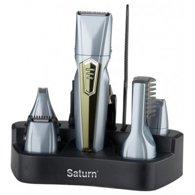 Машинка для стрижки Saturn ST-HC 8021 (ST-HC 8021)Машинки для стрижки Saturn <br>набор для стрижки питание автономное/от сети подставка для зарядки<br>