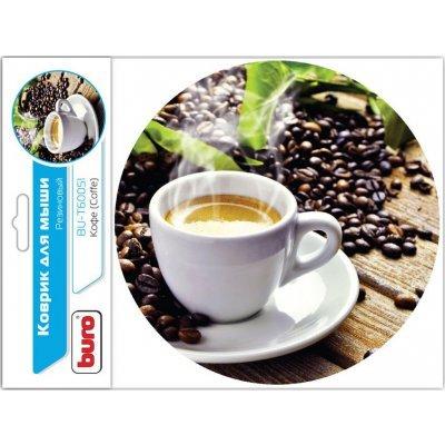 Коврик для мыши Buro BU-T60051 рисунок/кофе (BU-T60051)Коврики для мыши Buro<br>Коврик для мыши Buro BU-T60051 рисунок/кофе<br>