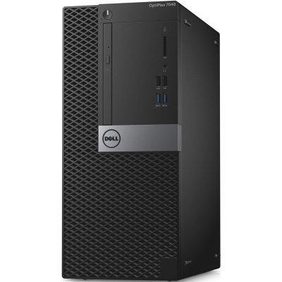 Настольный ПК Dell OptiPlex 7040 MT (7040-8797) (7040-8797)Настольные ПК Dell<br>Core I5-6500(3.2GHz QC), 4GB DDR4, 500GB, DVD-RW, HD530, vPro, кеув, mouse, Win7Pro64(Win10 Pro dwngrd), TPM, 3Y Basic NBD<br>