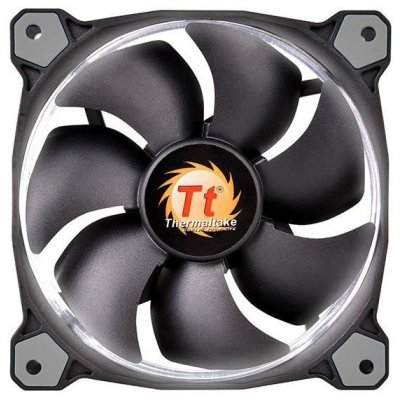 Система охлаждения корпуса ПК Thermaltake Riing 12 LED White (CL-F038-PL12WT-A)Системы охлаждения корпуса ПК Thermaltake<br>система охлаждения для корпуса 1 вентилятор 120 мм скорость 1000-1500 об/мин, регулятор оборотов уровень шума 18.7-24.6 дБ цвет подсветки: белый<br>