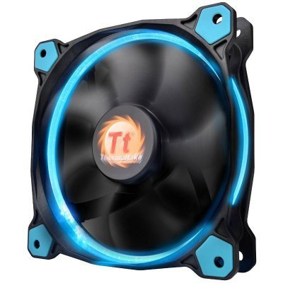 Система охлаждения корпуса ПК Thermaltake Riing 12 LED Blue (CL-F038-PL12BU-A)Системы охлаждения корпуса ПК Thermaltake<br>Riing 12 LED Radiator Fan/Fan/12025/1500rpm/LED Blue<br>