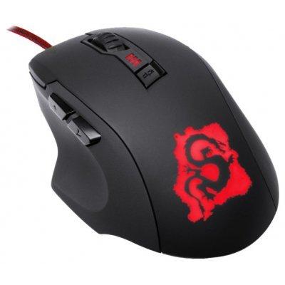 Мышь OKLICK 725G DRAGON черный/красный (SM-8560(6D) RED)