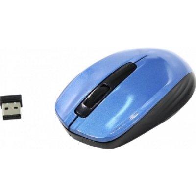 Мышь OKLICK 475MW черный/синий (TM-1500 BLACK/BLUE) мышь oklick 475mw black grey