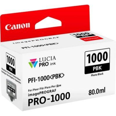 Картридж для струйных аппаратов Canon PFI-1000 PBK для IJ SFP PRO-1000 (0546C001)Картриджи для струйных аппаратов Canon<br>Картридж Canon PFI-1000 PBK для  IJ SFP PRO-1000 WFG. Фото чёрный. 80 мл.<br>