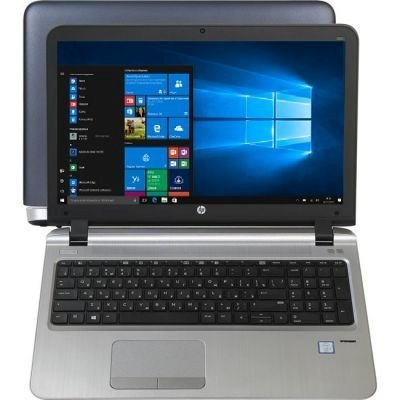 Ноутбук HP ProBook 450 G3 (W4P58EA) (W4P58EA)Ноутбуки HP<br>UMA i3-6100U DDR4 450 / 15.6 HD SVA AG / 8GB DDR4 1D / 1TB 5400 / W7p64W10p / DVD+-RW / 1yw / Webcam / kbd TP / Intel AC 1x1+BT / Sea / FPR<br>