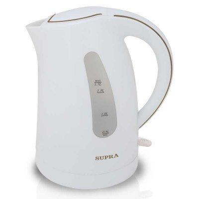 Электрический чайник Supra KES-1721 белый/вишневый (KES-1721 белый/вишневый)