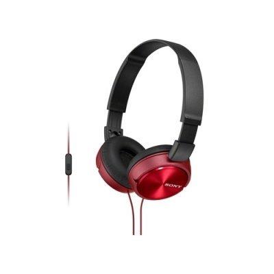 Наушники Sony MDR-ZX310AP красный (MDRZX310APR.CE7) наушники с микрофоном sony mdr zx310ap black