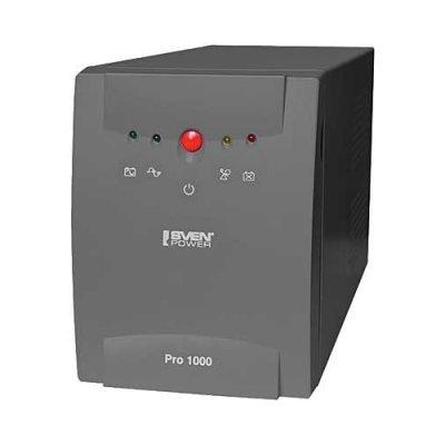 все цены на Источник бесперебойного питания SVEN Power Pro 1000 (SV-013868) онлайн