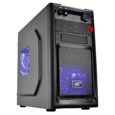 Корпус системного блока DeepCool Smarter LED (SMARTER LED)Корпуса системного блока DeepCool<br>Корпус Deepcool SMARTER LED , mATX / mini-ITX, без БП, 1x USB 3.0, 1x USB 2.0, 2x 12cm Blue LED fan.<br>