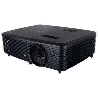 Проектор Optoma W340 (95.72H02GC1E)Проекторы Optoma<br>портативный широкоформатный проектор технология DLP поддержка 3D поддержка HDTV разрешение 1280x800 световой поток 3400 лм контрастность 20000:1 подключение по VGA (DSub), HDMI вывод изображения с USB-флэшек<br>