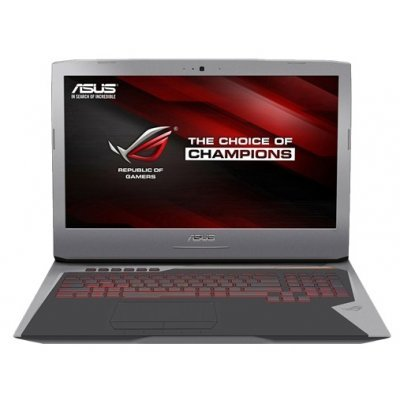 Ноутбук ASUS ROG G752VL-GC082T (90NB09Y1-M00940) (90NB09Y1-M00940)Ноутбуки ASUS<br>17.3(1920x1080 (матовый))/Intel Core i7 6700HQ(2.6Ghz)/12288Mb/1000+128SSDGb/DVDrw/Ext:nVidia GeForce GTX965M(2048Mb)/Cam/BT/WiFi/50WHr/war 1y/4.4kg/forge/W10<br>