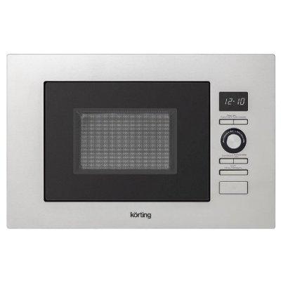 Микроволновая печь Korting KMI 720 X (KMI 720 X)Микроволновые печи Korting<br>встраиваемая микроволновая печь объем 20 л мощность 800 Вт гриль электронное управление тактовые и кнопочное переключатели дисплей<br>