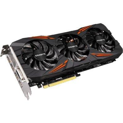 Видеокарта ПК Gigabyte GeForce GTX 1070 1620Mhz PCI-E 3.0 8192Mb 8008Mhz 256 bit DVI HDMI HDCP (GV-N1070G1 GAMING-8GD)Видеокарты ПК Gigabyte<br>видеокарта NVIDIA GeForce GTX 1070 8192 Мб видеопамяти GDDR5 частота ядра/памяти: 1620/8008 МГц поддержка режима SLI/CrossFire разъемы DVI, HDMI, DisplayPort x3 поддержка DirectX 12, OpenGL 4.5 работа с 4 мониторами<br>
