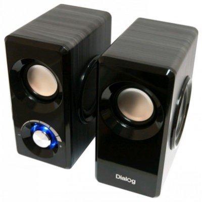 Компьютерная акустика Dialog AST-25UP черный (AST-25UP black)Компьютерная акустика Dialog<br>Колонки Dialog Stride AST-25UP BLACK - 2.0, 6W RMS, черные, питание от USB<br>